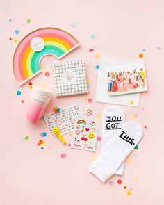Happy Mail : Our Holiday Box | Oh Happy Day! Party In A Box, Party Kit, Birthday Box, Birthday Gifts, Big Little Basket, Cute Valentines Day Gifts, Cute Stationary, Neighbor Gifts, Happy Mail