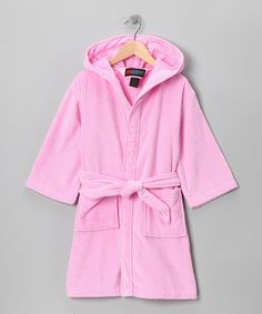 Look what I found on #zulily! Pink Pocket Robe - Girls by Terry Town #zulilyfinds