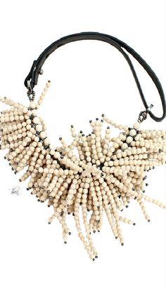 ~Brunello Cucinelli Riverstone Fringe Necklace With Riolite | House of Beccaria