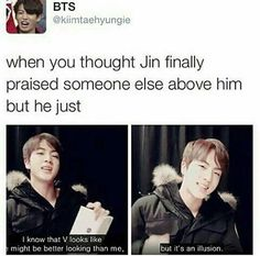 Hahaha can Jin share some of his confidence with me pls ❤