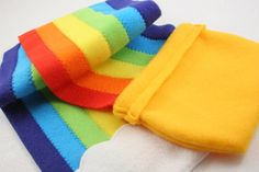 Tutorials: Pot o'Gold Rainbow Scarf
