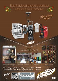 Cafés Tamazor tiene el regalo perfecto para estas Navidades. ¿Qué cafetera eliges?