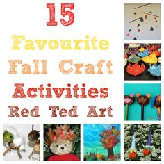 And our favorite Fall Crafts.... These do make me smile!