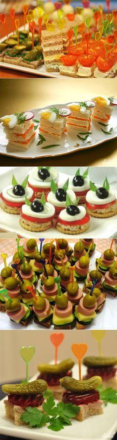 Канапе на день рождения - пошаговый кулинарный рецепт на Повар.ру