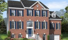 Three floors with brick front. The Deirdre home in [Elevation C]