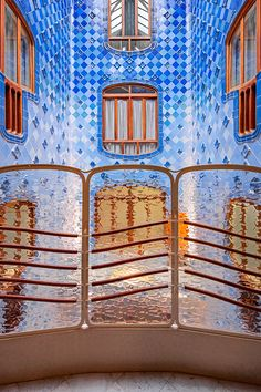 these photos of Gaudi's casa batlló in barcelona are absolutely stunning. the colors, texture, light, softn vs hard, shapes, interior vs exterior