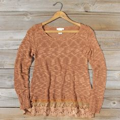 North Forest Knit Thermal in Rust, Cozy Lace Sweaters from Spool 72. | Spool No.72