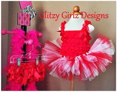 Adorable red and white tutu skirt, lace petti top, bloomers set/valentines day/baby girl/photo prop/baby shower gift on Etsy, $45.00