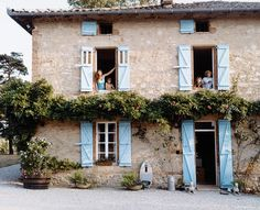 kathryn Ireland's home in France. I love stone houses.
