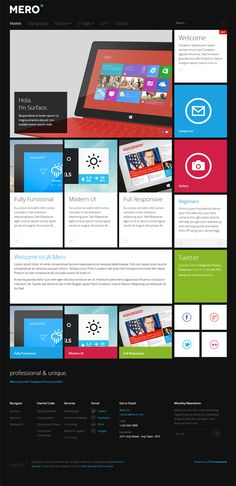 JA Mero, Joomla Responsive Metro Template by Premium Themes, via Behance