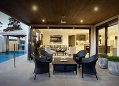 I just viewed this inspiring Waldorf 43 Alfresco image on the Porter Davis website. Check it out yourself and get inspired! Home Builders Melbourne, New Home Builders, Alfresco Designs, Porter Davis, 4 Bedroom House Plans, Alfresco Area, My Dream Home, New Homes, House Design