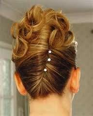 French pleat with curls