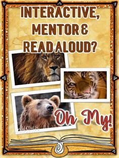 """What's a mentor text? An interactive what. Explore interactive read alouds and mentor texts. """"Every teacher knows the power of a good book. But how do you wade through the terms used to describe them? They seem to be intercha Interactive Read Aloud, Interactive Activities, Teaching Tools, Creative Teaching, Teacher Blogs, Teacher Resources, Classroom Resources, Literacy Stations, Mentor Texts"""