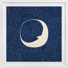 Celestial Moon by Katherine Morgan at minted.com