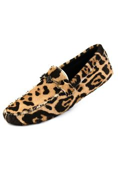 Roberto Cavalli Macula Leopard Moccasin  I don't like leopard prints on men BUT these would look fabulous on them. The big leopard print steals my heart
