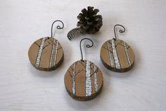 Set de 3 ornements d'arbre de bouleau par TwigsandBlossoms sur Etsy
