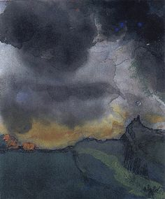Emil Nolde Mountain Landscape with Dark Clouds