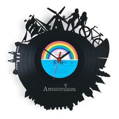 "RE_VINYL wall clock ""AMSTERDAM"""