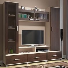 Modern Minimalist TV Desk Design Talking about decoration, room decoration becomes the most important part in beautifying the appearance of your home. Some electronic equipment and room furniture b… Design Room, Pop Design, Wall Design, Tv Unit Decor, Tv Wall Decor, Wall Tv, Tv Wand Design, Tv Unit Furniture Design, Tv Wall Furniture