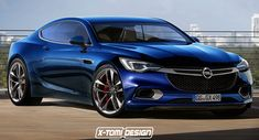 The Buick Avista Concept was rendered with an Opel front end and it uses the Calibra moniker.