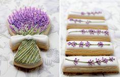 Pretty lavender cookies! Thanks & via  Brenda's Wedding blog!