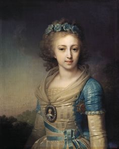 Elena Pavlovna of Russia (1784-1803), daughter of Paul I of Russia and his wife Sophie of Württemberg. She was married to Friedrich of of Mecklenburg-Schwerin and they had 2 children.