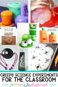 Are you looking for some fun and creepy science experiments to do with your class this month? We're sharing a bunch of fun ideas that are sure to creep the kids out and get some ohh and ahh's.