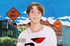 So beautiful ! Jhope, Hoseok Bts, Bts Bangtan Boy, Bts Taehyung, Fanart Kpop, Bts Drawings, Wow Art, Fanarts Anime, Bts Chibi