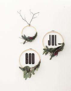Create yourself a merry little christmas | Weihachtliche Wanddeko mit Stickrahmen im Scandi Look!