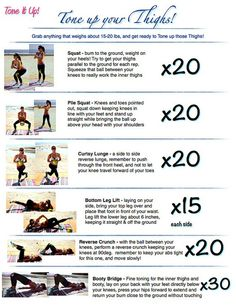 Tone Up Your THIGHS workout! #toneitup - Click image to find more Health & Fitness Pinterest pins