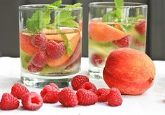 Skinny White Wine Sangria Sparkler via Nutrition to Invigorate