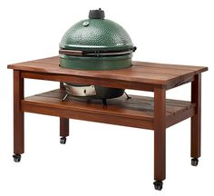 The metal Table Nest Is now an 1 450 00 We also carry Big Green Egg Cypress Tables and Mahogany Tables So I made this