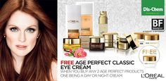 offer: Free eye cream when you buy any Age Perfect products, one being a day or night cream. Beauty Fair, Loreal Paris, Eye Cream, Fragrance, Eyeshadow, Skin Care, Age, Cosmetics, Night