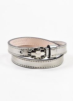 Prada Metallic leather logo bracelet RxPAW