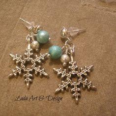 Stardust snowflake earrings