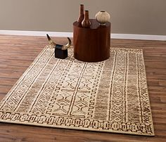 Beige and Brown Traditional Tribal Design 5 by 7 Area Rug. Cream Area Rug, Beige Area Rugs, Inexpensive Rugs, 8x10 Area Rugs, Traditional Area Rugs, Throw Rugs, Soft Colors, Cool Rugs, Tribal Rug