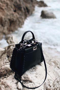 All Black Outfit in Sicily: Mini Peekaboo Bag – Fendi S/S 16 - teetharejade.com