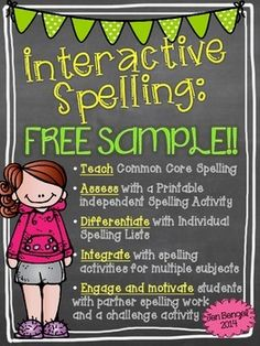 Freebie! This freebie includes a spelling lesson, printable activity, and detailed instructions for a non-traditional spelling week. Learn more about how to teach spelling in a way that differentiates instruction so that all students learn at their highest level of potential!
