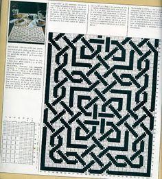 Филейное вязание: Дорожка филейного вязания