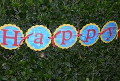 Thomas the Tank Engine Party Banner by maniandme on Etsy, $26.00