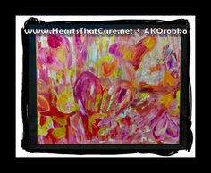 "Hands On - Ready to hang acrylic artwork 20"" x 16"" stretched canvas by Dr. Angela Kowitz Orobko"