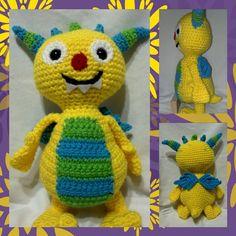 Henry HuggleMonster inspired crochet pattern by mommashooks, $4.00