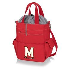 Picnic Time 20 Can NCAA Activo Tote Picnic Cooler NCAA Team: University Of Maryland Terrapins, Color: Red
