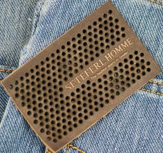 punch holes garment leather labels Leather Stamps, Leather Label, Raw Denim, Denim Jeans Men, Cnc Woodworking, Fashion Tag, Boys Pants, Paper Tags, Printing Labels