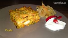 Žemľovka na slano s dubákmi a so zeleninou (fotorecept)