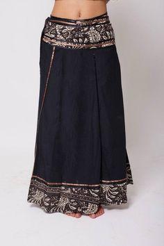 27830fe10 Bohemian Skirt, Boho Skirt, Bohemian Clothing, Black Gypsy Skirt, Long Skirt,  Festival clothing, Tribal Clothing, Long Black Skirt, One Size