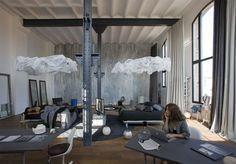 beton, belki i biały sufit:)