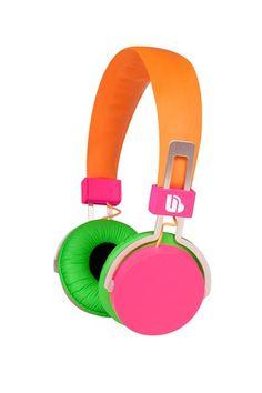 The Macbeth Collection Tech Gear  Urban Beatz Neon Headphone - Orange/Pink/Green