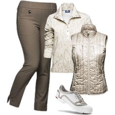 A fashion look from October 2014 featuring gold shoes. Browse and shop related looks.