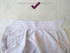 Costura fácil: Camisa a rayas + molde gratis – Nocturno Design Blog Design Blog, Costura Diy, White Shorts, Gym Shorts Womens, Ideas, Fashion, Templates, Modeling, Sewing Patterns Free